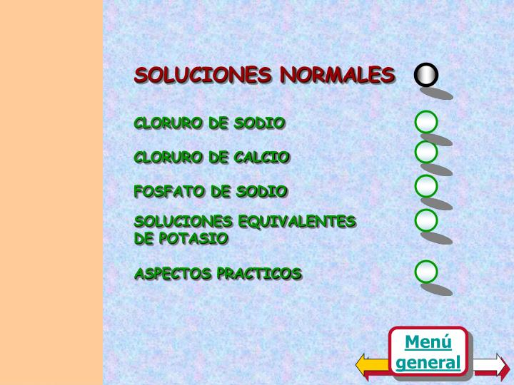 SOLUCIONES NORMALES