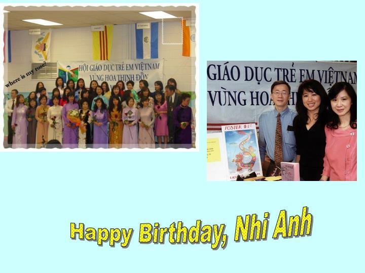 Happy Birthday, Nhi Anh
