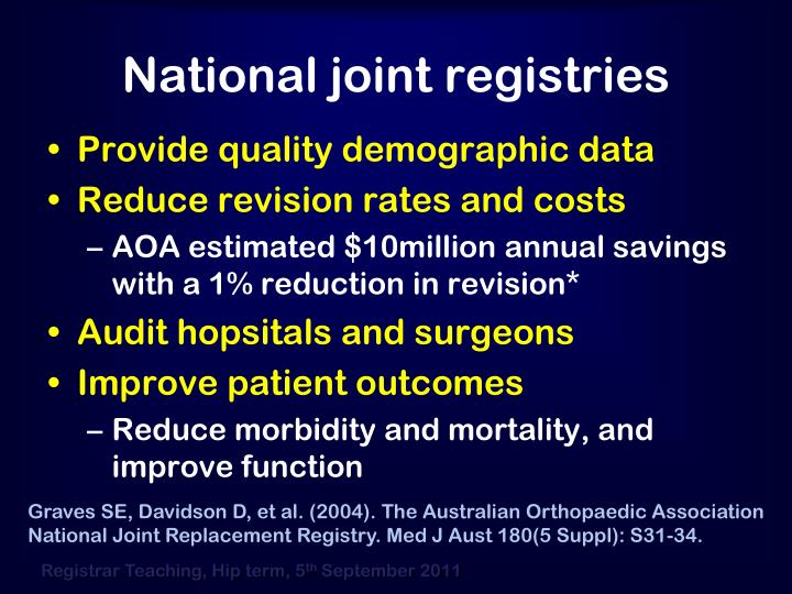 National joint registries
