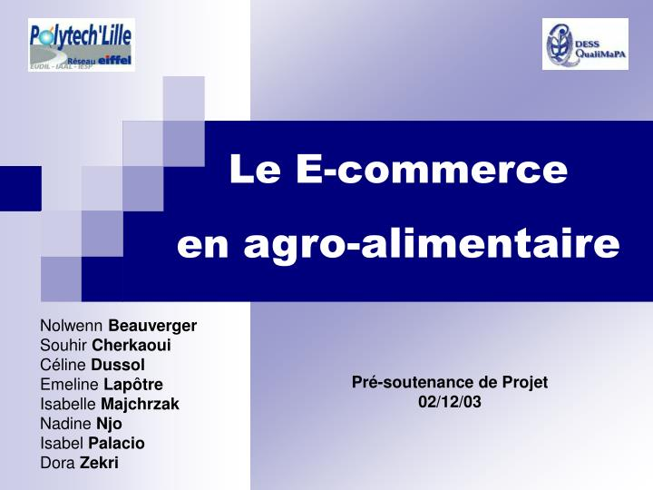 Le E-commerce