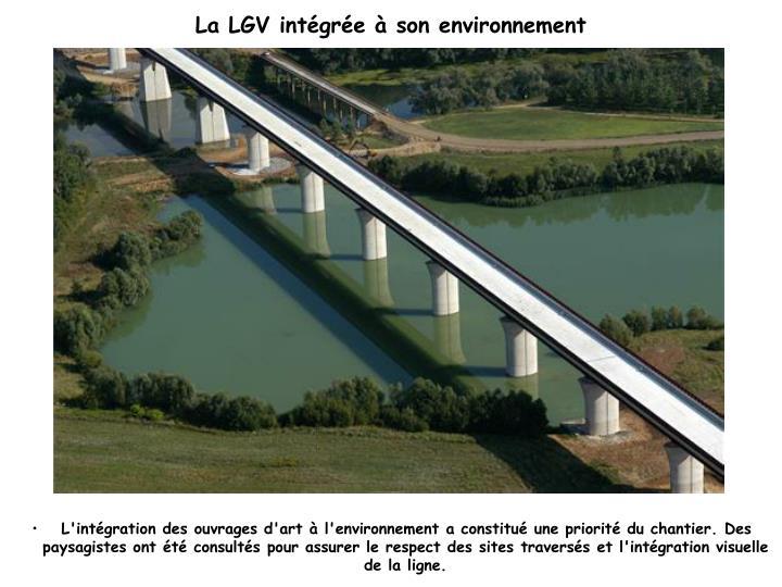 La LGV intégrée à son environnement