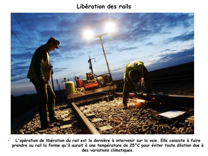 Libération des rails