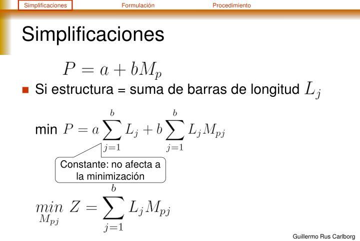 Simplificaciones