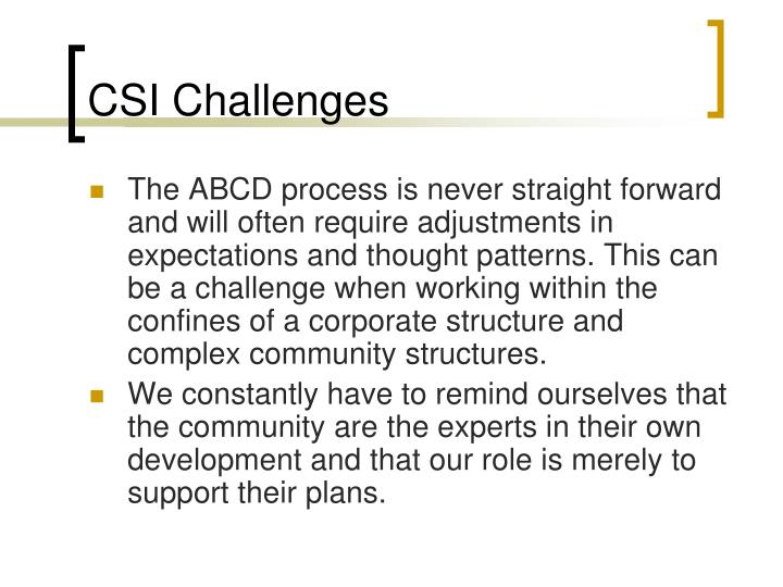 CSI Challenges
