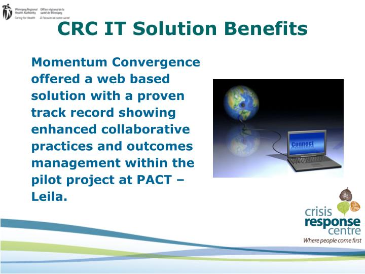 CRC IT Solution Benefits