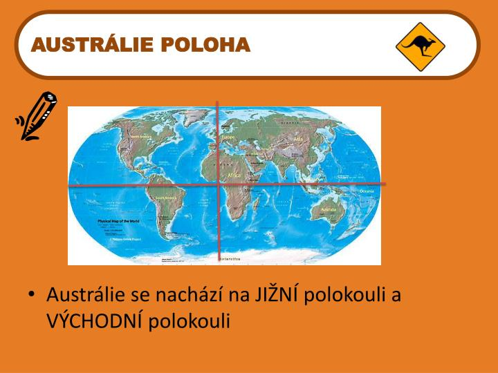 AUSTRÁLIE POLOHA