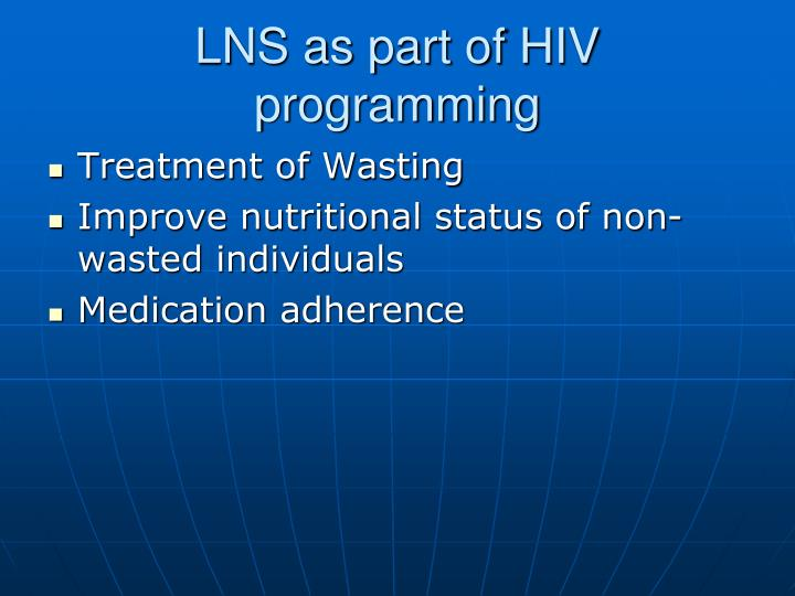 LNS as part of HIV programming