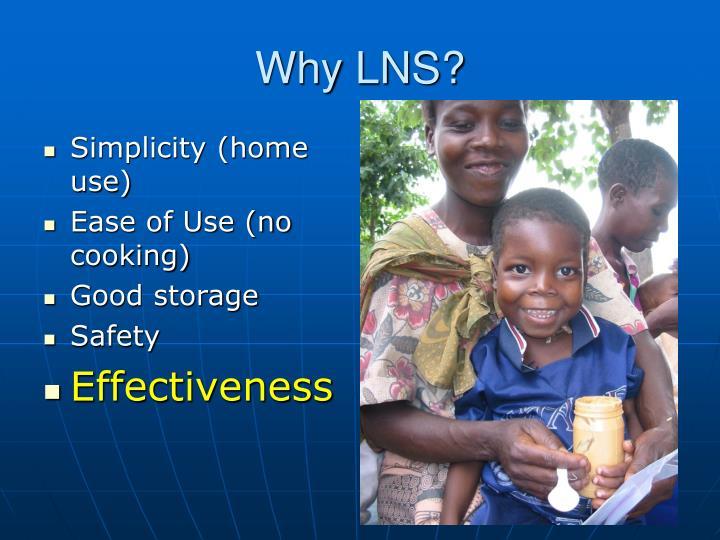 Why LNS?