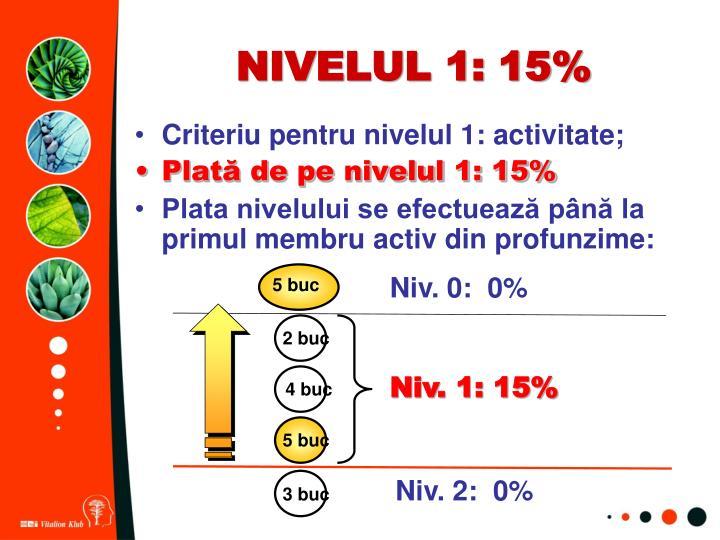 NIVELUL 1: 15%