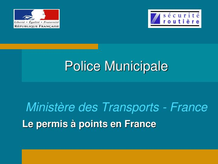 police municipale minist re des transports france