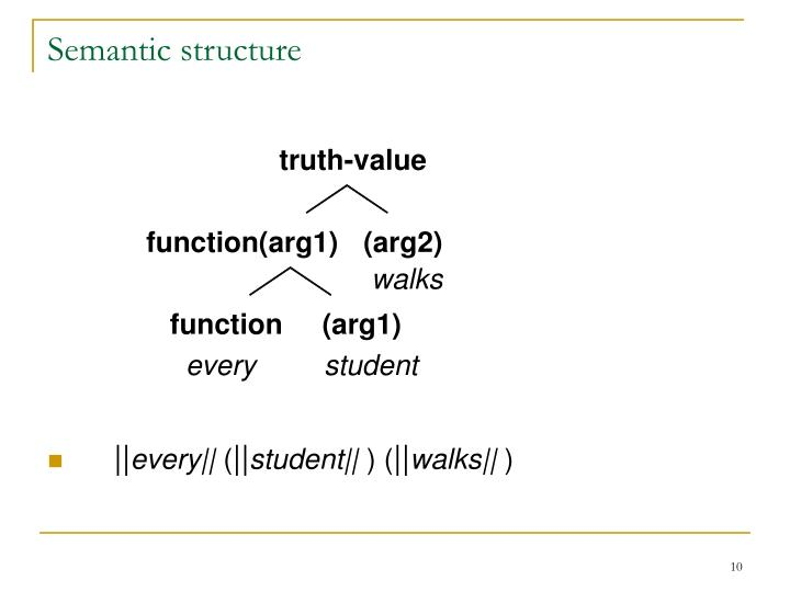 Semantic structure