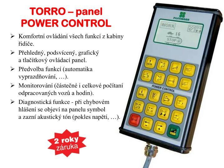 TORRO – panel POWER CONTROL