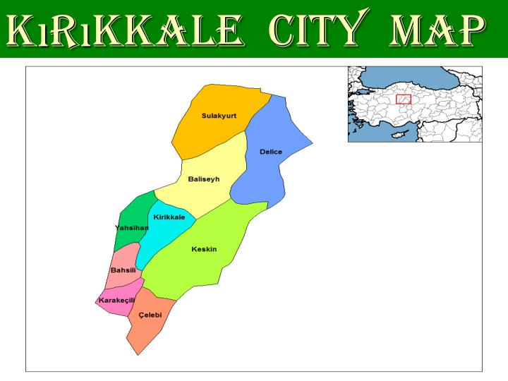 Kırıkkale  city  map