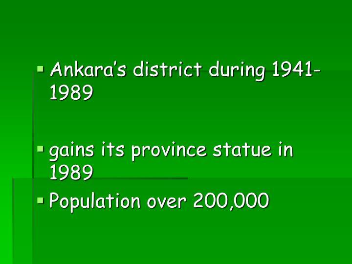 Ankara's