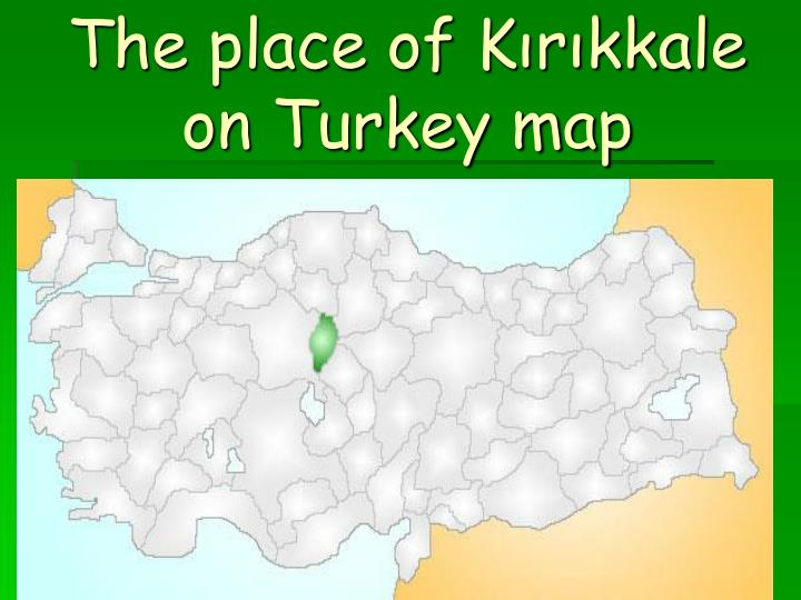 The place of Kırıkkale on Turkey map