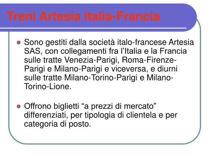 Treni Artesia Italia-Francia