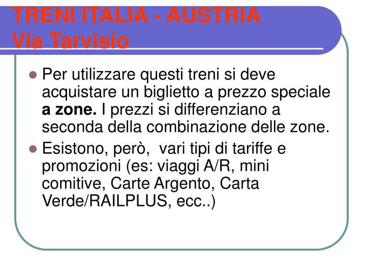 TRENI ITALIA - AUSTRIA