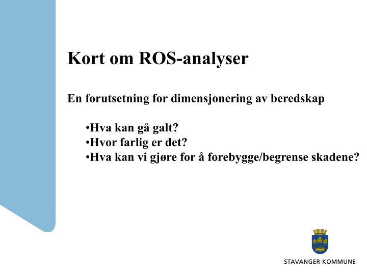 Kort om ROS-analyser
