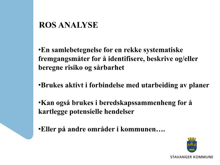 ROS ANALYSE