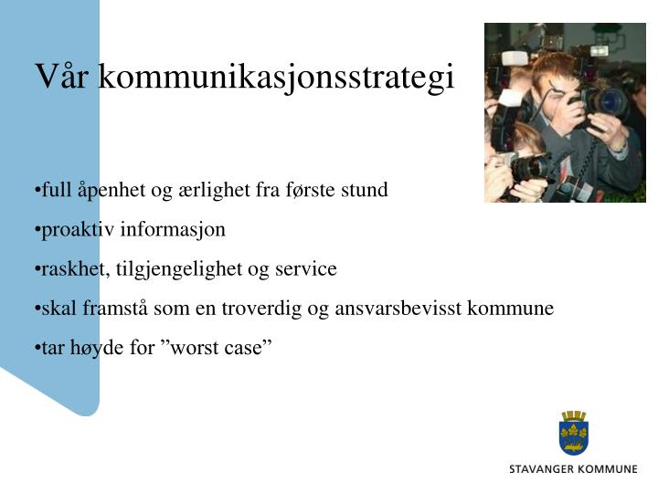 Vår kommunikasjonsstrategi