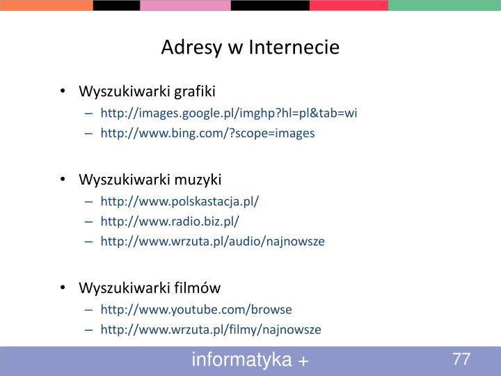 Adresy w Internecie