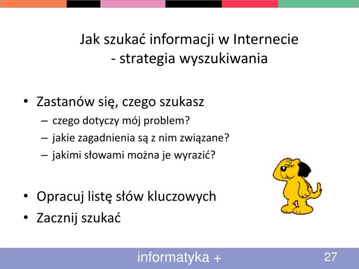 Jak szukać informacji w Internecie