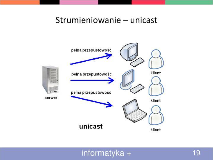 Strumieniowanie – unicast