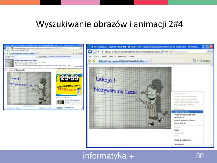 Wyszukiwanie obrazów i animacji 2#4