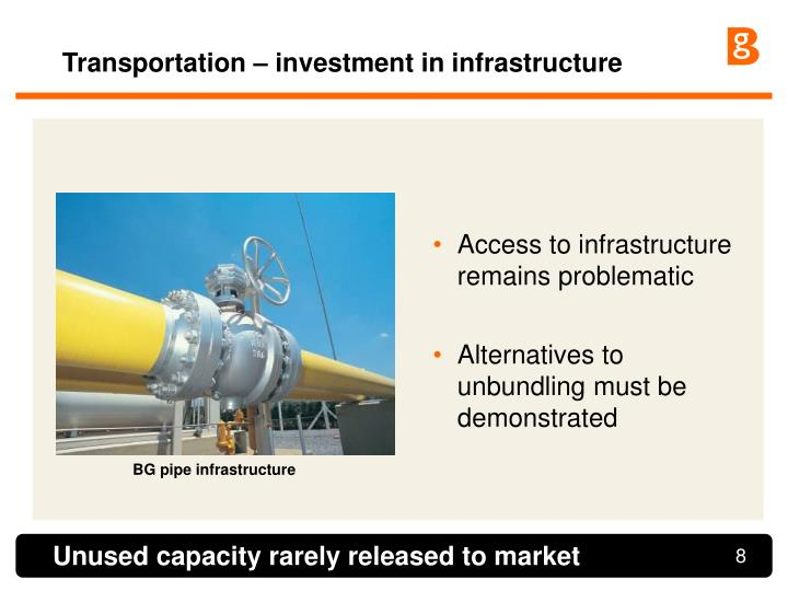 Transportation – investment in infrastructure