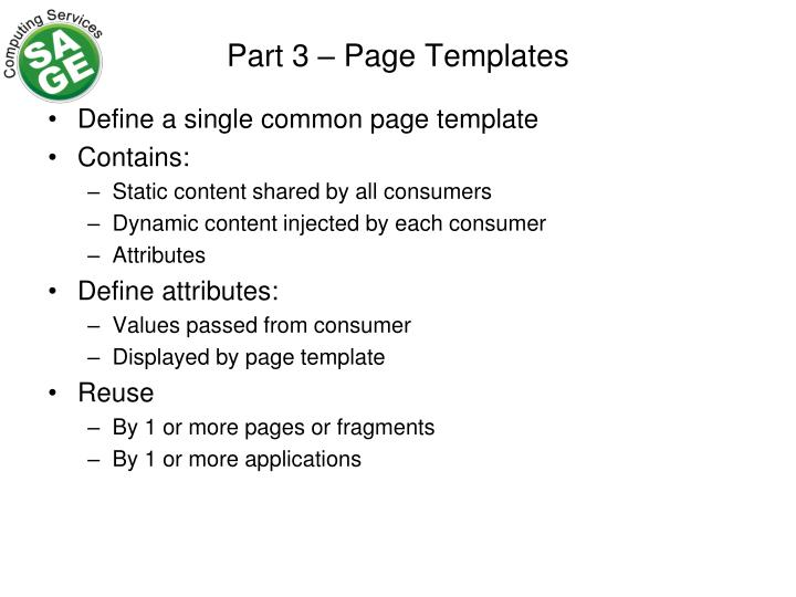 Part 3 – Page Templates