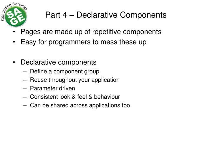 Part 4 – Declarative Components