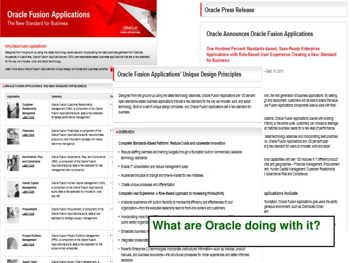What are Oracle doing with it?