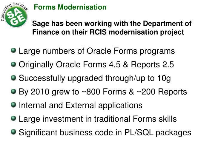 Forms Modernisation