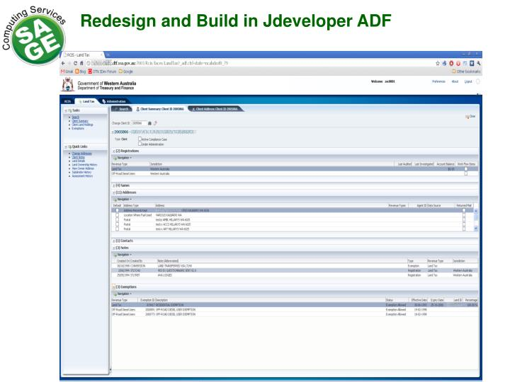 Redesign and Build in Jdeveloper ADF