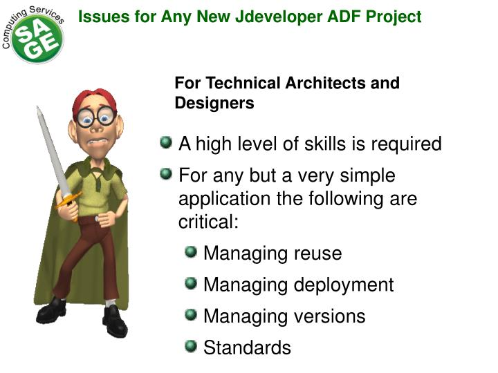 Issues for Any New Jdeveloper ADF Project