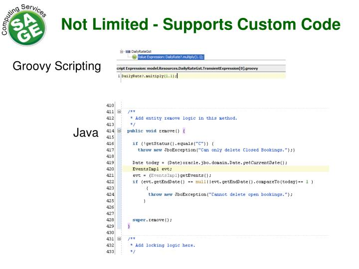 Not Limited - Supports Custom Code