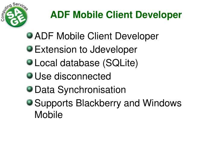 ADF Mobile Client Developer