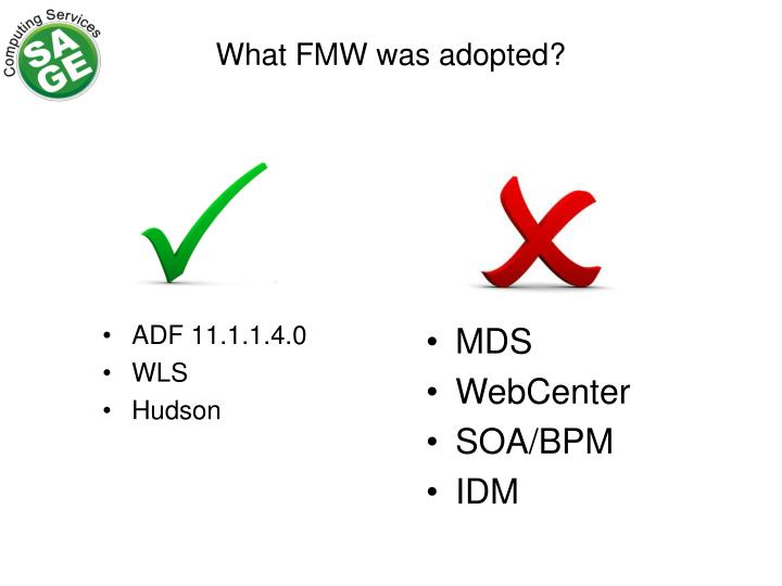 What FMW was adopted?