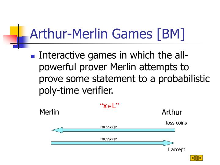 Arthur merlin games bm