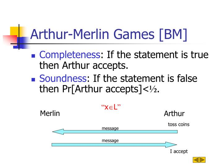 Arthur merlin games bm1