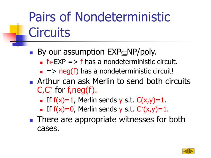 Pairs of Nondeterministic Circuits