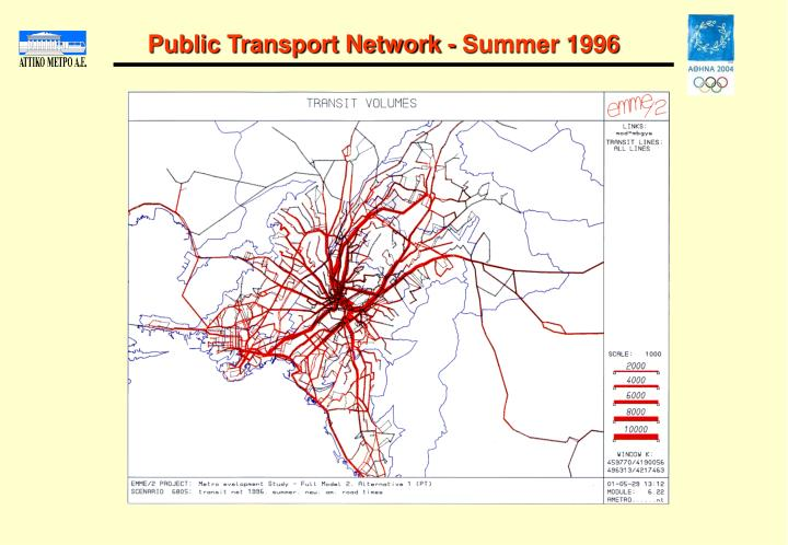 Public Transport Network - Summer 1996