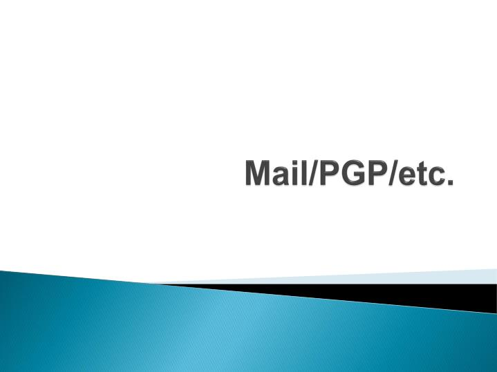 Mail/PGP/etc.