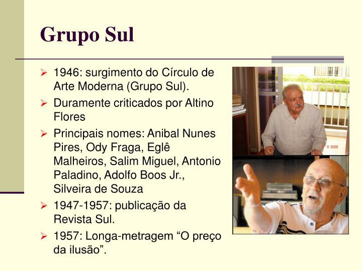 1946: surgimento do Círculo de Arte Moderna (Grupo Sul).