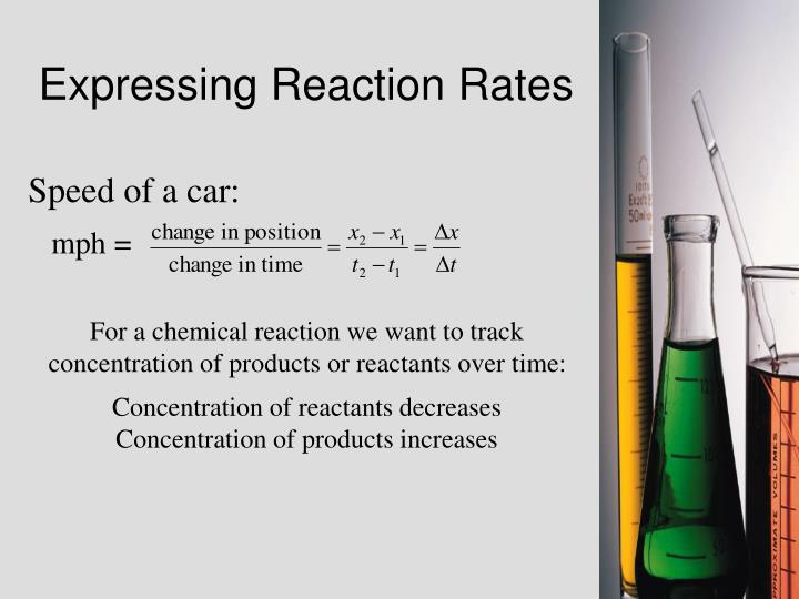 Expressing Reaction Rates