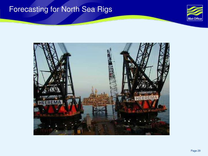Forecasting for North Sea Rigs