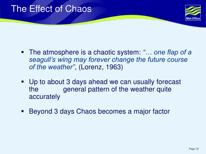 The atmosphere is a chaotic system: