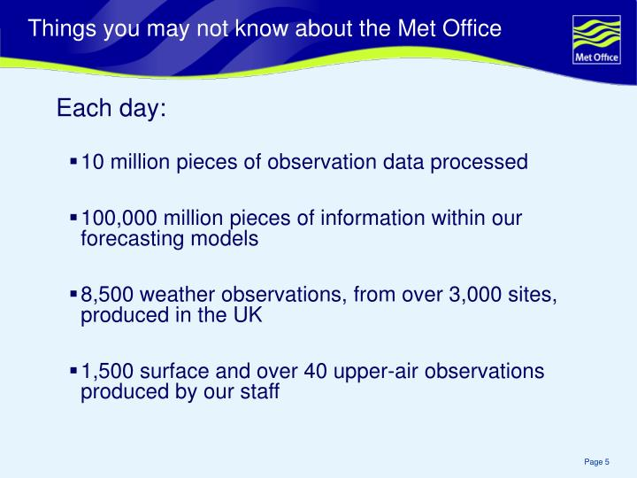 Things you may not know about the Met Office