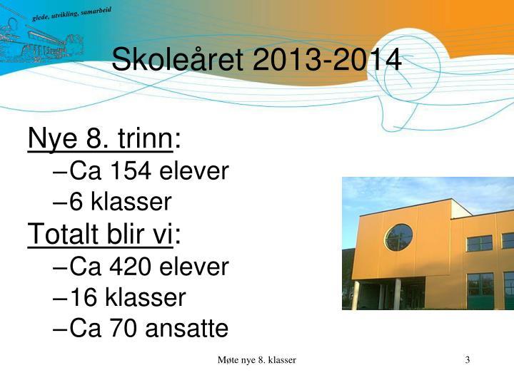Skoleåret 2013-2014