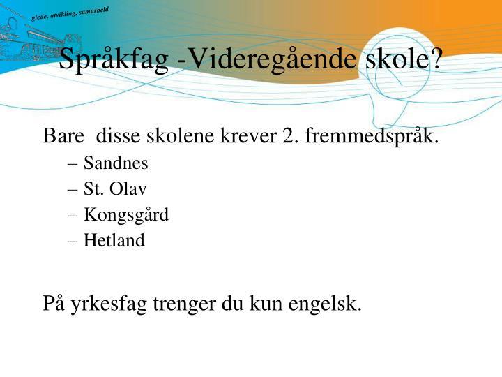Språkfag